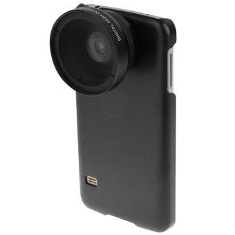 G900 Wide Angle Lens + Macro Lens with Phone Case for Samsung Galaxy S5