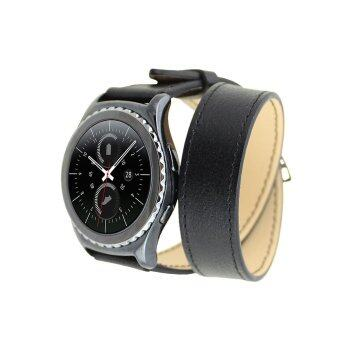 Galaxy Gear S2 Classic R732 Bands,Sumin® Luxury Genuine Leather watch Band strap Bracelet Replacement Wrist Band - intl