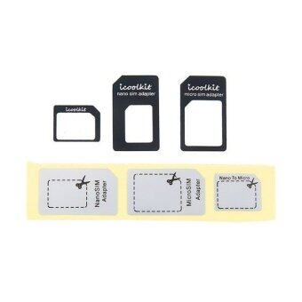 Generic Universal Nano SIM Card to Micro SIM Card Adapter for iPhone 6 Plus/ iPhone 6/ iPhone 5S/ iPhone5/ iPhone 4S/ iPhone 4 (Black)