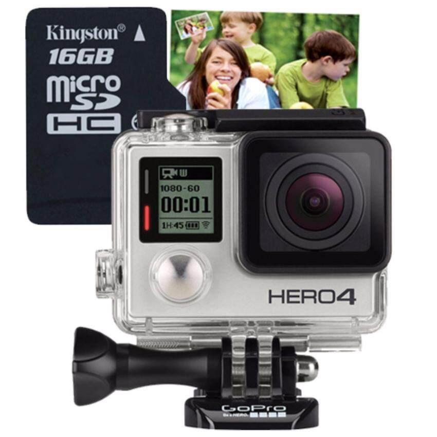 ด่วนGoPro HERO4 SILVER + Micro SD card 16 GB มูลค่า490บาท +คูปองขยายภาพขนาด16