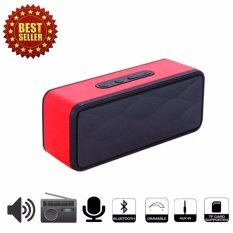 GS805 Speaker Bluetooth/FM radio/TF Red ลำโพงไร้สายบลูทูธ สีแดง image
