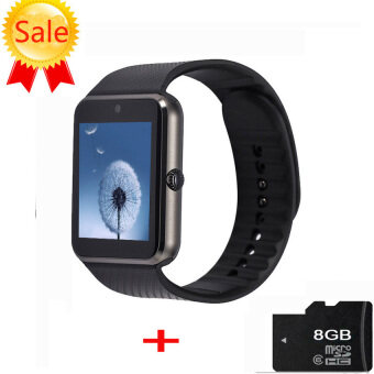 GT08 Bluetooth Smart Watch Android Smartwatch Sim Card Fitnessforapple ios android (Black) - intl