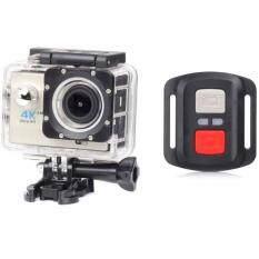 H16r Ultra Hd 4k Remote Action Camera 2.0 Screen Wifi 1080p/60fps 170d Lens Helmet Cam Go Pro Waterproof Mini Camera กล้องสำหรับทำกิจกรรมออกกำลังกาย ถ่ายวีดีโอความละเอียดสูงสูด 4k ราคา 1,400 บาท(-46%)