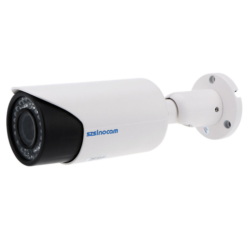 H.264 HD 1080P 2.8-12mm 4X Digital Zoom Bullet Waterproof IP Camera with 42IR LEDs Home Security