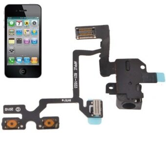 Headphone Audio Jack Ribbon Flex Cable for iPhone 4(Black)