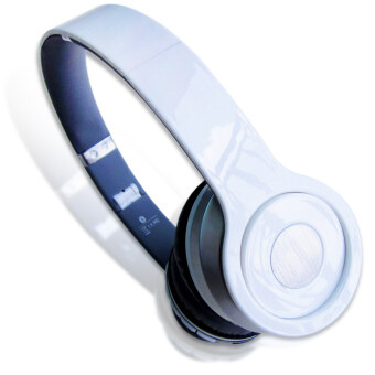Headphone Overhead Wireless Bluetooth For Mp3 Player Smartphone (Color:White) - intl