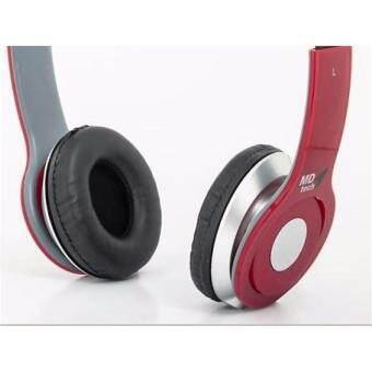 Headphone with Mic MD TECH MD7730 สีแดง ใช้ได้ทั่งโทรศััพท์ เเละ คอม/โน๊ตบุ๊ต