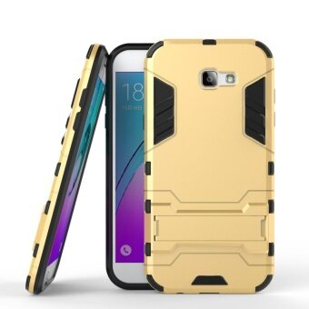 Hicase Detachable 2 in 1 Hybrid Armor Case Dual-Layer Shockproof Case Cover for Samsung Galaxy A7 2017 Gold - intl