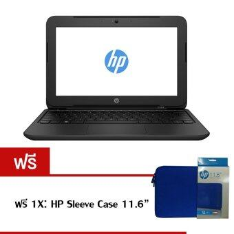 "HP Notebook 11-f001TU C.N2840 2GB 500GB 11.6"" Dos (Black) ฟรี 1X: HP Sleeve Case"