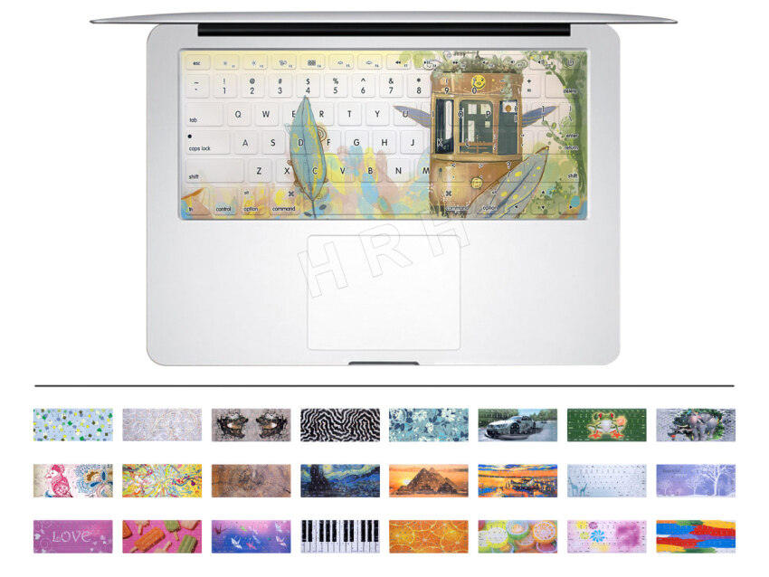 HRH Cable car Rubber Keyboard Cover keypad Skin protector for All Apple Macbook Pro Air  ...