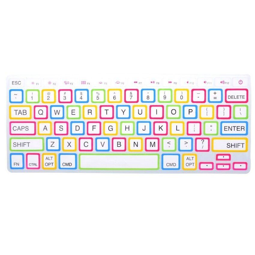 HRH Fashion Silicone Waterproof Keyboard Protector Cover Film For Apple Mac-book Pro ret ...