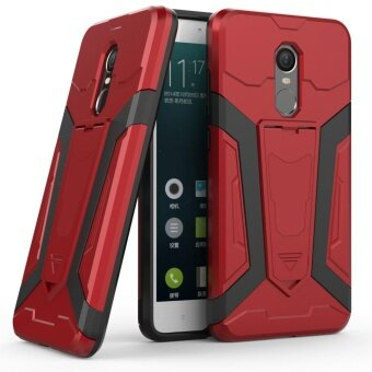 Hybrid TPU Bumper PC Back Case Cover for Xiaomi Redmi Note 4X (Red)- intl