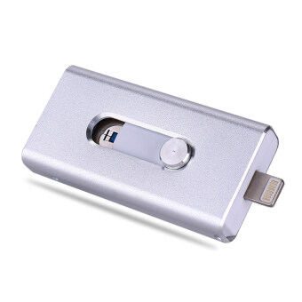i-Flashdrive OTG USB Flash Drive For iphone 6/6s/5/5s ipad 64gb Pen Drive Usb Flash (Silver) - intl