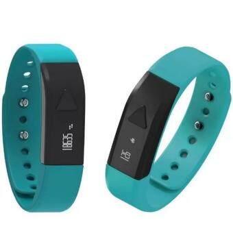 ราคา I5 OLED Stylish Anti-lost Smart Bracelet Watch Bluetooth Bracelet (Blue) Google Play Appstore(Blue)