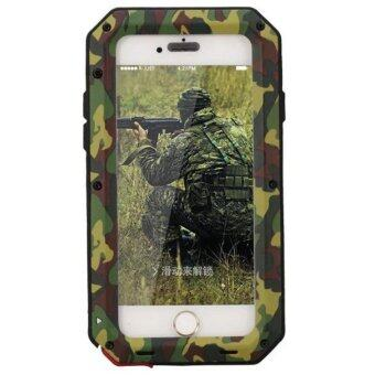 iPhone Waterproof Case, Heavy Duty Outdoor Military Camouflage Aluminum Metal Shockproof Gorilla Glass Cover Bumper for APPLE iPhone6/6S - intl