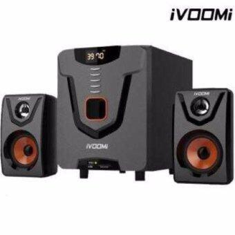 iVOOMi ชุดลำโพง 2.1 รุ่น IVM-1257 2580-SUF USB & MMC/SD card reader LED Display(Black)