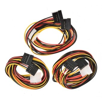 Jo.In 3 x IDE Power SATA Y Adapter Cable 4 Pin to 2 x 15 Pin 75 cm