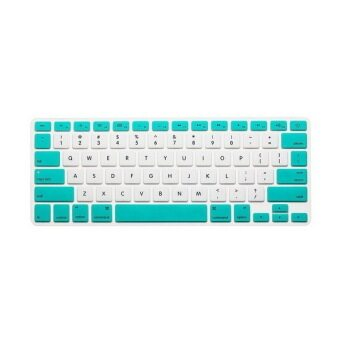 Keyboard protector 13 Inch (White and Green Candy)