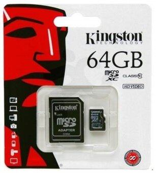 Kingston Memory Card Micro SD SDHC 64 GB Class 10
