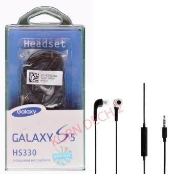 ราคา KPTหูฟังพร้อมไมโครโฟนสำหรับ Sammsung GAlaxy S3 /S4 /S5 / Note2 Note3 / Note4(Black)