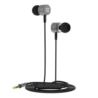 Langsdom I-7 New Subwoofer Metal Ear Mobile Phone Headset (Black) - intl