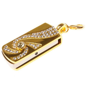 LCFU764 64GB Metal USB Flash Memory Drive Stick Pen Thumb Keydiamond U Disk (Gold)