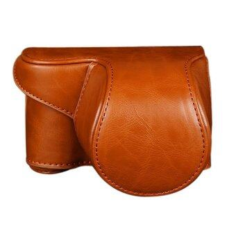 Leather Camera Bag Case Cover Pouch For Sony A5000 A5100 NEX 3N (Brown)