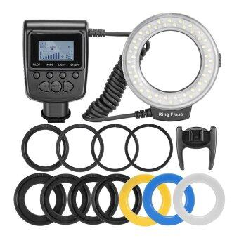 Leegoal Macro LED Ring Flash Light for Canon Nikon Pentax Olympus Panasonic DSLR - intl