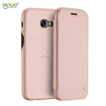 ... LENUO Ultra Thin Flip Cover Case Soft Leather Cell Phone Cases ForSamsung Galaxy A7 2017 /