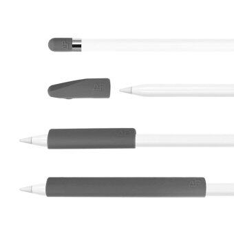 Lightning Power - Set of 4 Premium Silicone Made Pencil Sleeve CapSaver Holder for Apple Pencil (Grey) - intl