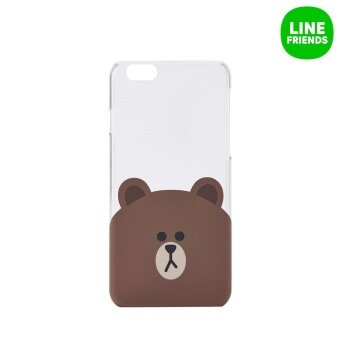 LINE FRIENDS IPHONE 6/6S IML HARD CASE_BROWN(TRANSPARENT)