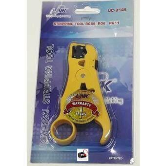 LINK - คีมปอกสาย ทีวี/กล้องวงจรปิด Stripping Tool RG59, RG6,RG11, model: UC-8145 (Yellow)