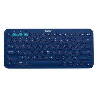 Logitech Multi-Device Bluetooth Keyboard รุ่น K380 (Blue) (Win,Mac,Chrome,Android,iOsAppleTv)