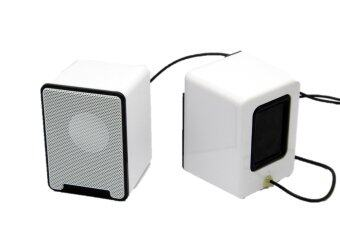 m Mini Computer Speakers, Powered by USB (White)