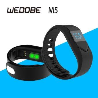 M5 Smart Wristband for Real Time Pulse Track Sports Band Blood Pressure Monitor Blood Oxygen Monitor Fatigue Monitoring (Black) - intl