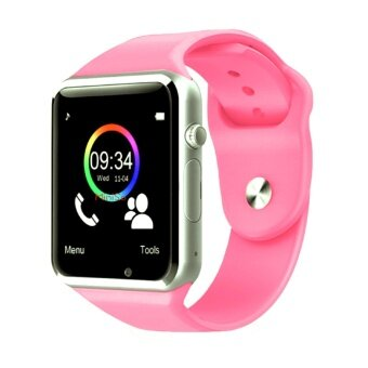 Maker นาฬิกาโทรศัพท์ Bluetooth Smart Watch รุ่น A1 Phone watch (Pink)