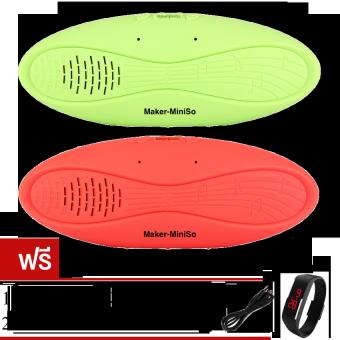 2561 Maker ลำโพงบลูทูธ Bluetooth Speaker Mini X7U แพ็คคู่ (Red/Green)ฟรี สาย USB+ นาฬิกา LED (คละสี)