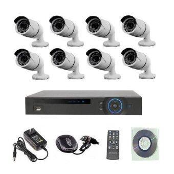 Mastersat ชุดกล้องวงจรปิด CCTV IP Camera 1 MP 8 จุด ระบบ NVR ระบบไฟ 12V. (ใช้ POE Switch 9 ports)