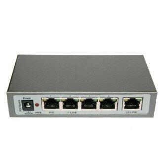 Mastersat CCTV POE Switch for NVR 5 Ports สำหรับกล้อง IP Camera 4 จุด ระบบไฟ 48V. ใช้ได้ไกล 100 เมตร