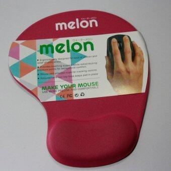 Melon แผ่นรองเม้าส์พร้อมเจลรองข้อมือ Mouse Pad with Gel Wrist Support (RED)