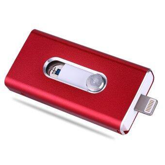 Micro Dirve Metallo Memory Stick Mobile USB 2 Per IPhone 6/6 S or Ipad Flash Drive 64 GB (Red) - intl