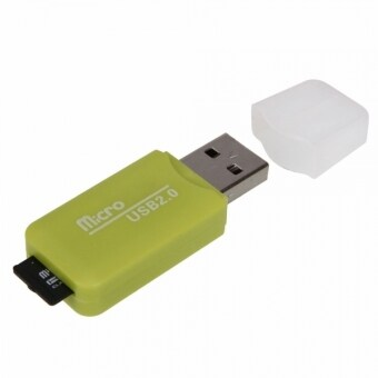 Micro SD Card 4GB + SD Card Adapter + Card Reader (Green)