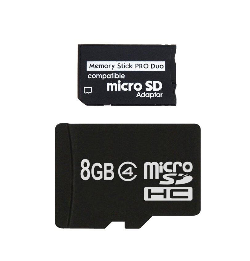 MicroSD with Micro SD to MS Pro Duo Adpater 8GB สำหรับ PSP ...