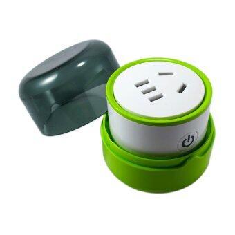 Mini K - Smart Wi-Fi Plug ปลั๊กอัจฉริยะสั่งงานผ่านมือถือสมาร์ทโฟน (White/Green)