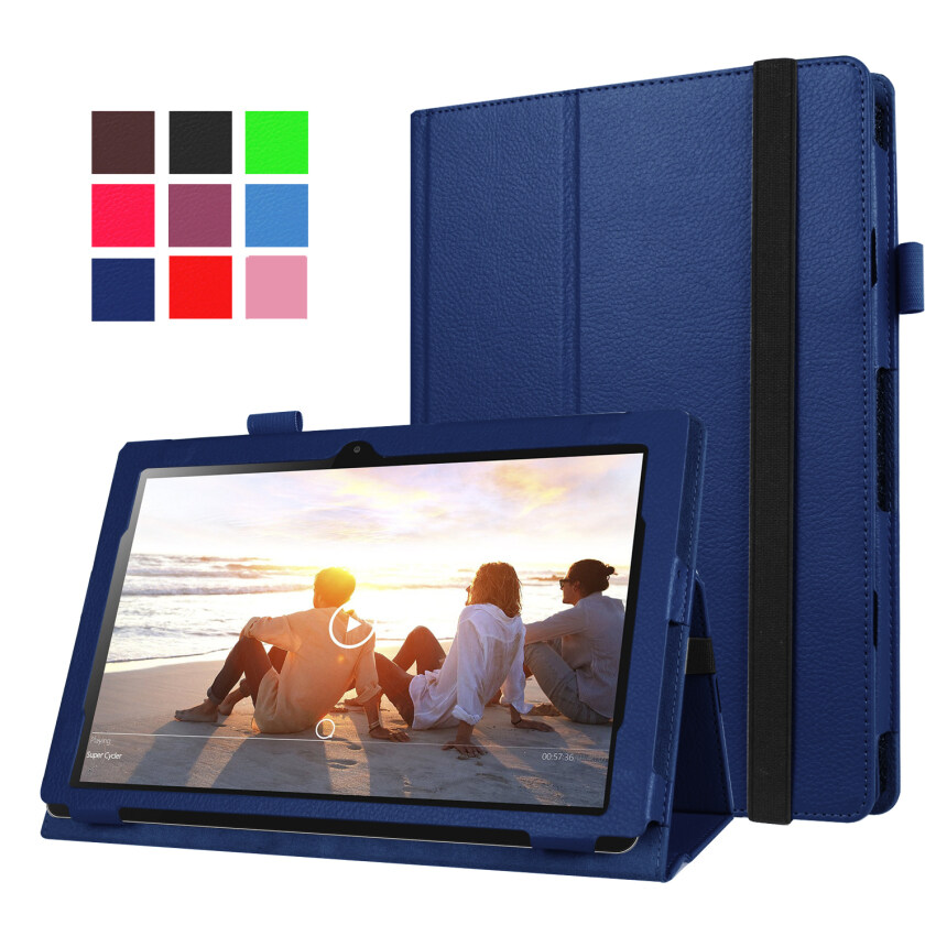 Moonmini PU Leather Cover for Lenovo MIIX 310 10.1 inch (Dark Blue) - intl ...