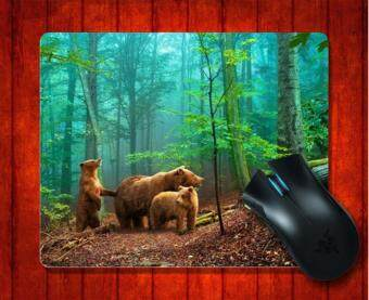 MousePad Grizzly Bears Animal for Mouse mat 240*200*3mm Gaming Mice Pad - intl