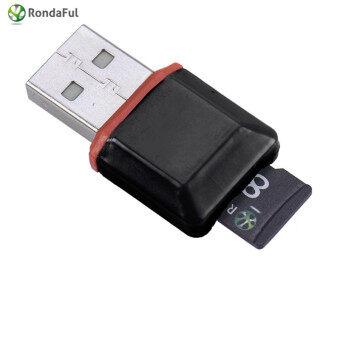 New High Speed USB 2.0 Mini Micro SD T-Flash TF M2 Memory Card Reader Black - Intl