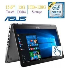 Newest ASUS 15.6-inch Touchscreen 1080p FHD 2-in-1 Convertible Laptop PC, 7th Gen Intel Core i7-7500 2.7GHz, 12GB DDR4, 1TB + 128GB SSD Hard Drive, Bluetooth, NVIDIA 940MX Graphics, Windows 10 - intl