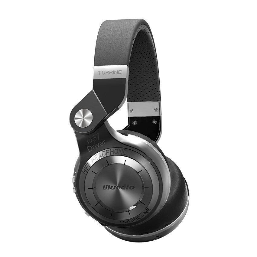 Newest Bluedio T2 Multifunction Stereo Bluetooth Headset Noise Canceling Headphone Wireless Headphones (Black)