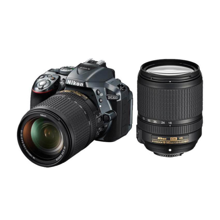 Nikon D5300 DSLR Camera 24.2 mp Kit 18-140mm (Black) (Black)